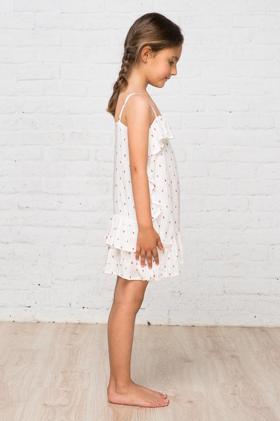 Camisón anclas niña perfil