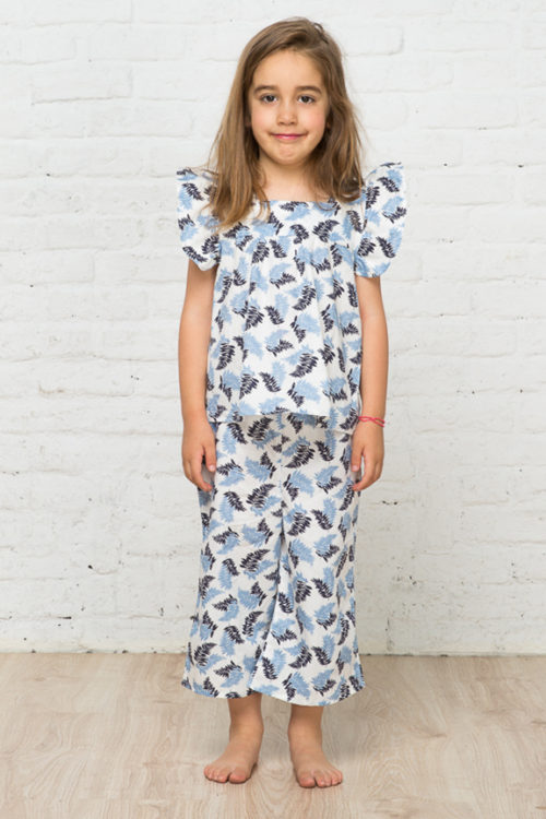 Palm trees pattern for girls 1