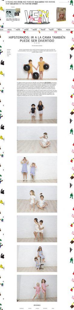 Hipsterkids en la revista online Vein.es (29/08/17)