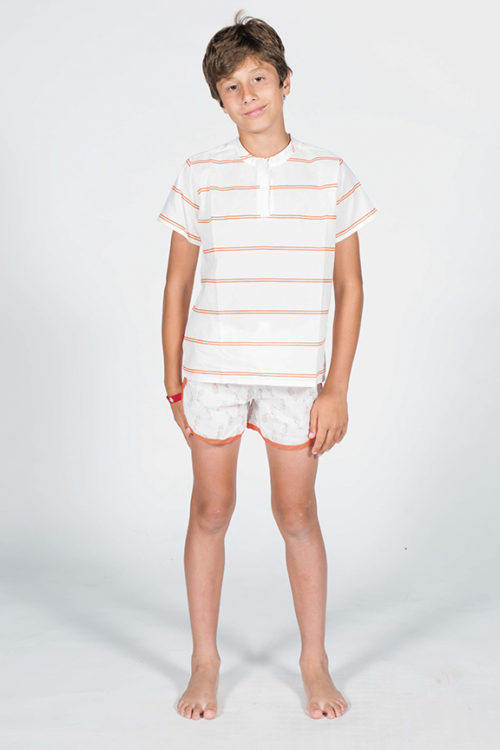 Pijama de caballitos de Mar frente